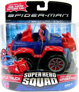 Spider-Man Hasbro Super Hero Squad Vehicle Battle Truck with Spider-Man