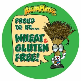 Wheat-Gluten Free Alert Stickers 24 pack