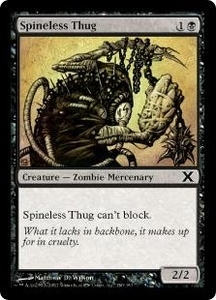 Magic the Gathering Tenth Edition Single Card Common #180 Spineless Thug