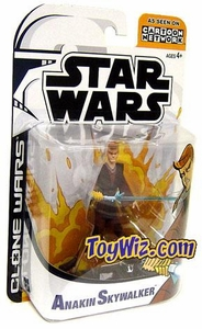 Star Wars Clone Wars Cartoon Network Action Figure Anakin Skywalker BLOWOUT SALE!