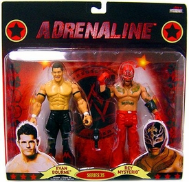 WWE Wrestling Adrenaline Series 35 Action Figure 2-Pack Evan Bourne & Rey Mysterio