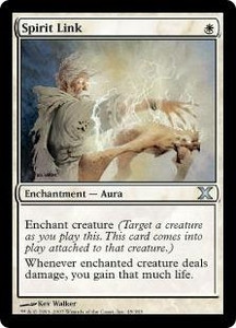 Magic the Gathering Tenth Edition Single Card Uncommon #45 Spirit Link