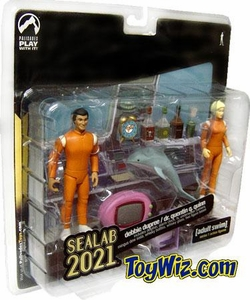 Adult Swim Series 1 Action Figure 2-Pack Dr. Quentin Quinn & Debbie DuPree (Sealab 2021) BLOWOUT SALE!