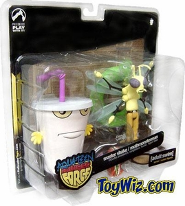 Adult Swim Series 1 Action Figure 2-Pack Master Shake & Moth Man Monster [Aqua Teen Hunger Force] BLOWOUT SALE!