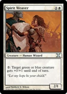 Magic the Gathering Tenth Edition Single Card Uncommon #46 Spirit Weaver