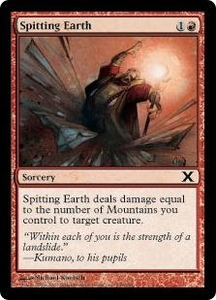 Magic the Gathering Tenth Edition Single Card Common #238 Spitting Earth