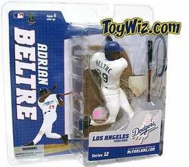 McFarlane Toys MLB Sports Picks Series 12 Action Figure Adrian Beltre (Los Angeles Dodgers) White Retro Jersey Variant
