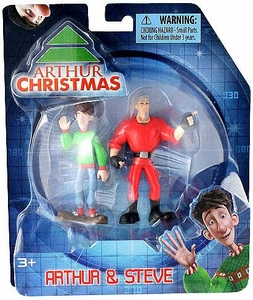 Arthur Christmas Mini Figure 2-Pack Arthur & Steve BLOWOUT SALE!