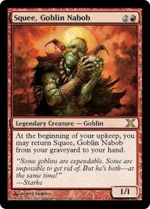 Magic the Gathering Tenth Edition Single Card Rare #239 Squee, Goblin Nabob