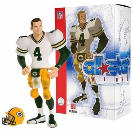 Upper Deck Authenticated All Star Vinyl Figure Brett Favre (White Away Jersey) Limited to 1500 Pieces