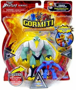 Gormiti 5 Inch Action Figure with Exclusive Mini Figure & Game Card Noctis
