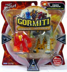 Gormiti Series 1 Mini Figure 2-Pack Fiery Hammer & Earthshaker [Random Colors] BLOWOUT SALE!