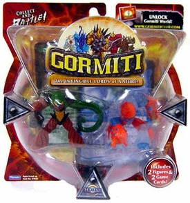 Gormiti Series 1 Mini Figure 2-Pack Lethal Whip & Tongs the Terrible [Random Colors]