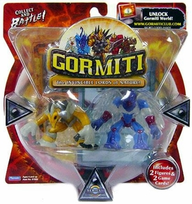 Gormiti Series 1 Mini Figure 2-Pack Mole the Holedigger & Solitary Eagle [Random Colors]