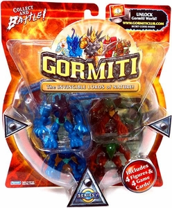 Gormiti Series 1 Mini Figure 4-Pack Polypus, Lethal Whip, Hammer & Mimic