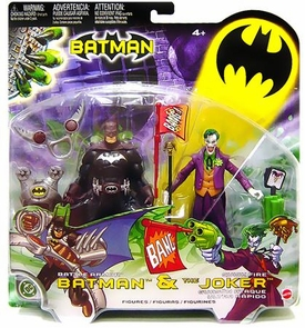 Batman Mattel Action Figure Battle Armor & Quick Fire Joker