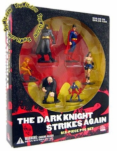 DC Direct Batman The Dark Knight Strikes Again Six Piece PVC Set Rare!