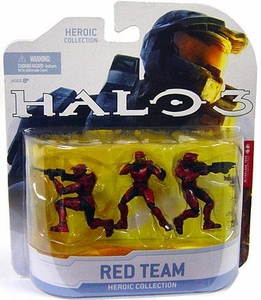 Halo 3 McFarlane Toys Heroic Collection Wave 1 Mini Figure 3-Pack Red Team Set