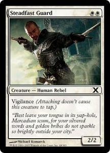 Magic the Gathering Tenth Edition Single Card Common #48 Steadfast Guard