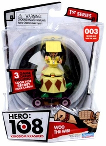 Hero: 108 Kingdom Krashers Series 1 Action Figure #003 Woo the Wise BLOWOUT SALE!