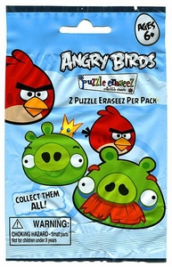 Eraseez Collectible Puzzle Eraser 2-Pack Angry Birds