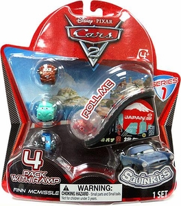 Disney Cars 2 Movie Series 1 Squinkies 4-Pack with Ramp