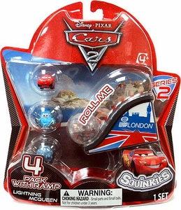 Disney Cars 2 Movie Series 2 Squinkies 4-Pack with Ramp