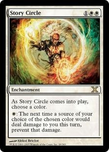 Magic the Gathering Tenth Edition Single Card Rare #49 Story Circle