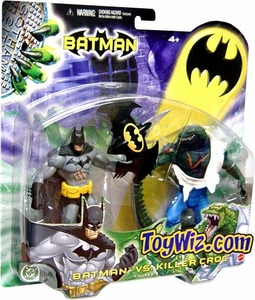 Batman Mattel Exclusive Action Figure Batman Vs. Killer Croc Damaged Package, Mint Contents!