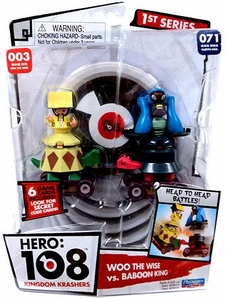 Hero: 108 Kingdom Krashers Series 1 Action Figure 2-Pack #003 & #071 Woo the Wise & Baboon King BLOWOUT SALE!
