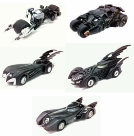 Batman Tomy Takara Tomica Limited Mini 2.5 Inch Batmobile Collection Set of All 5 Vehicles