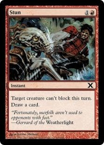 Magic the Gathering Tenth Edition Single Card Common #240 Stun