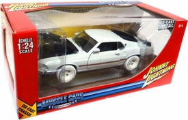 Johnny Lightning 1:24 Scale Diecast Car R7 Muscle Cars White Lightning 1969 Ford Mustang Mach 1 (White Wheels) BLOWOUT SALE!