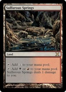 Magic the Gathering Tenth Edition Single Card Rare #359 Sulfurous Springs