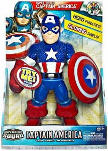 Super Hero Squad Captain America First Avenger Super Shield Captain America Action Figure
