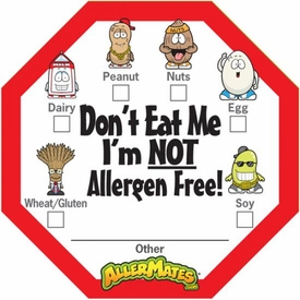 Allergen Alert Labels for Food Packages 24 Pack BLOWOUT SALE!