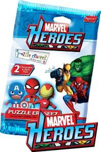 Eraseez Collectible Puzzle Eraser 2-Pack Marvel Heroes