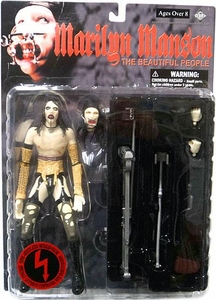 Marilyn Manson Super-Articulated Action Figure The Beautiful People Damaged Package, Mint Contents!
