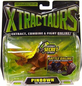 Mattel Xtractaurs Game Figure Pindown The Triceratops BLOWOUT SALE!