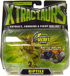 Mattel Xtractaurs Game Figure Riptile The Utahraptor