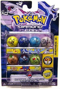 Pokemon Marbles Series 2 Set #1 (Dialga, Manaphy, Palkia, Turtwig, Bonsly, Pikachu & Weavile)