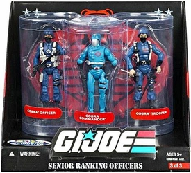 GI Joe Exclusive Senior Ranking Officers Action Figure 3-Pack Cobra Officer, Cobra Commander & Cobra Trooper