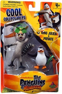 Penguins of Madagascar Mini Figure 2-Pack King Julien & Private
