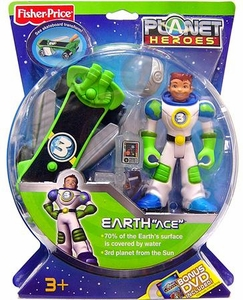 Planet Heroes Action Figure Earth Ace BLOWOUT SALE!