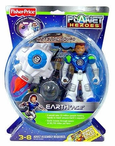 Planet Heroes Metallic Squad Deluxe Action Figure Earth Ace