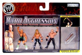 WWE Wrestling Micro Aggression Series 8 Figure 3-Pack Edge, Kane & Finlay