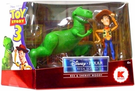 Disney / Pixar Toy Story 3 Screen Scenes Action Figure 2-Pack Rex & Sheriff Woody