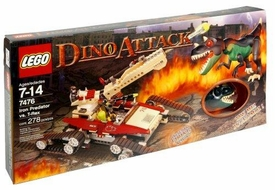 LEGO Dino Attack Set #7476 Iron Predator vs. T-Rex [Open Box / Sealed Bags] Damaged Package, Mint Contents!