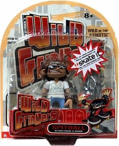 Wild Grinders Action Figure & Board Spitball