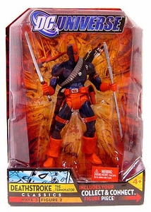 DC Universe Classics Series 3 Action Figure Deathstroke {Masked} [Build Solomon Grundy Piece!] Damaged Package, Mint Contents!